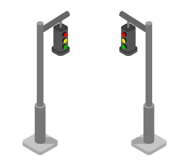 Набор изометрических светофоров