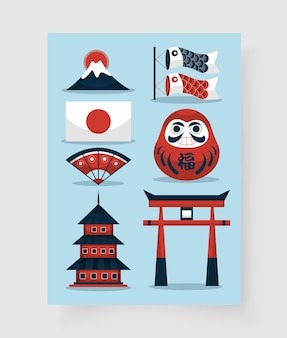Набор японских элементов