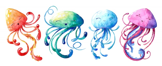Набор медуз.