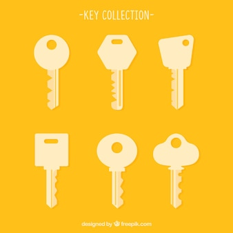 Set of key silhouettes