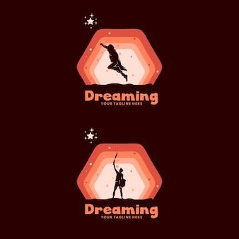 子供の夢のロゴのセット