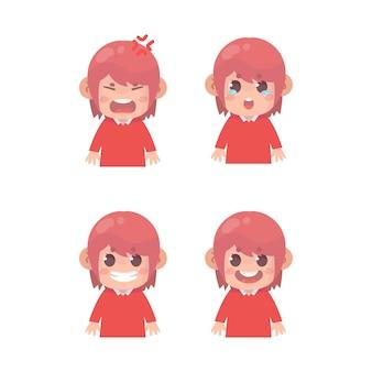 아이 얼굴 표정 세트