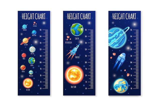 어린이를위한 어린이 키 차트 귀여운 스케일 측정 세트 아기 측정기 성장