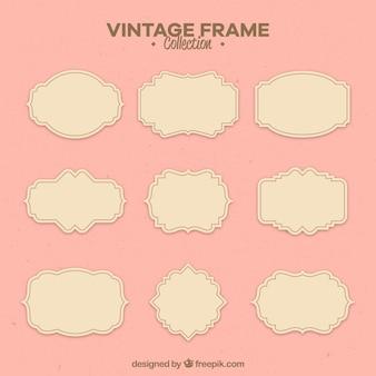 Set of labels in vintage style