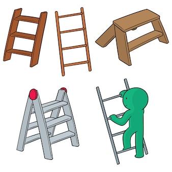 Набор лестниц Premium векторы