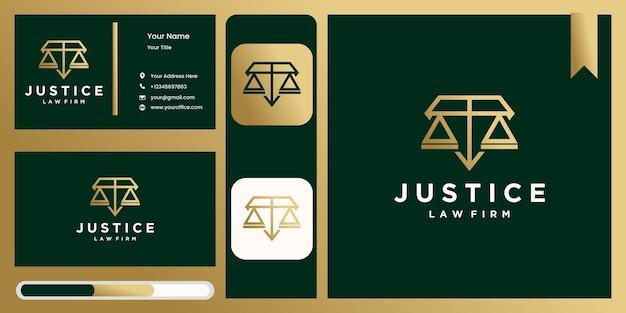 Набор логотипов закона и правосудия. шаблон символа пакета адвоката в модном стиле, векторная иллюстрация логотипа коллекции дизайна адвоката и правосудия