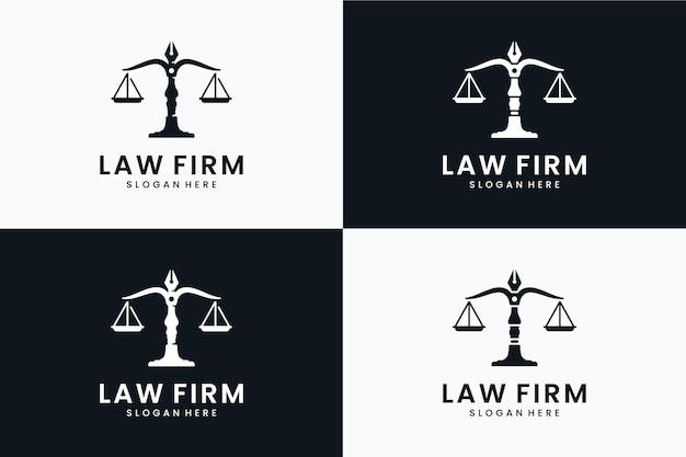 Набор шаблонов логотипа юриста