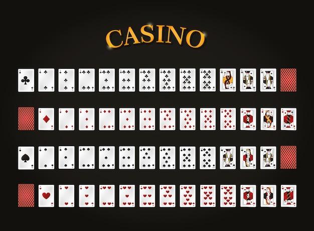 검은 배경 벡터 일러스트 그래픽 디자인을 통해 레저 카드 세트