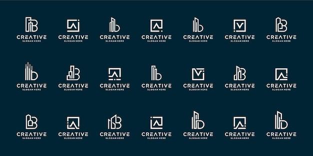 文字azロゴデザインのインスピレーションのセット