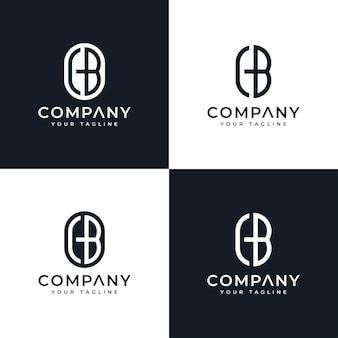 Набор букв cb логотипа креативный дизайн для всех целей