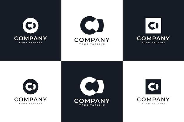 모든 용도로 사용할 수 있는 편지 ci 로고 창의적인 디자인 세트