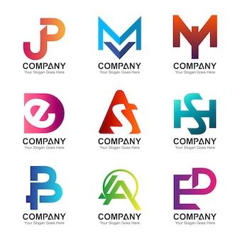 Set of letter combination logo
