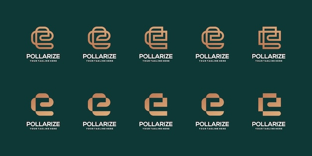 文字eロゴビジネステンプレートのセット