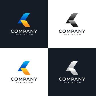文字kのセットすべての用途のためのモダンなロゴの創造的なデザイン