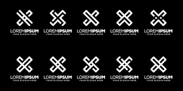 Набор букв k современный дизайн логотипа