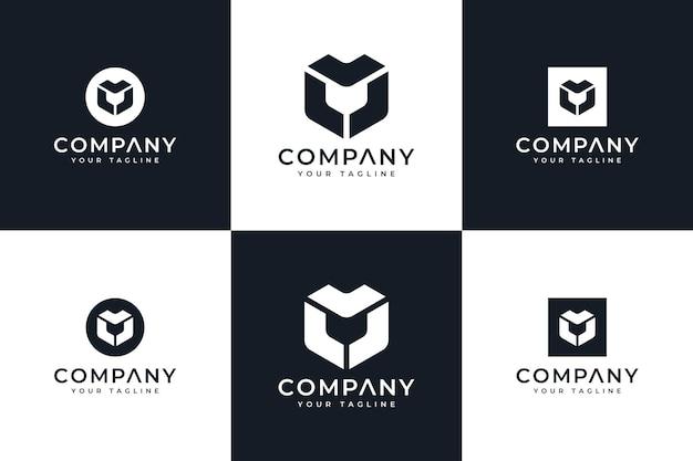 Набор креативного дизайна логотипа letter ll для всех целей