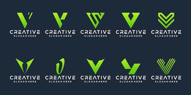 편지 로고 디자인 세트