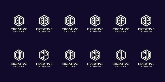 Набор геометрических букв логотипа