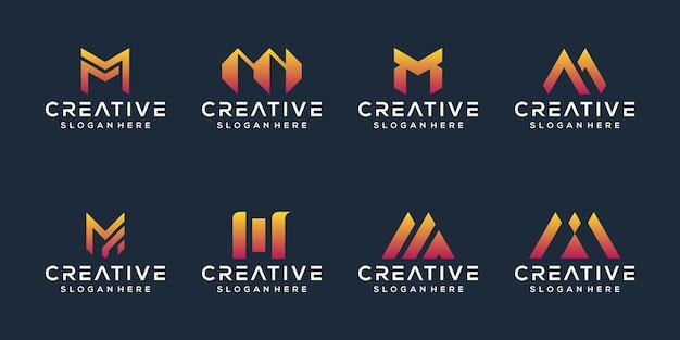 文字mロゴデザインのセット
