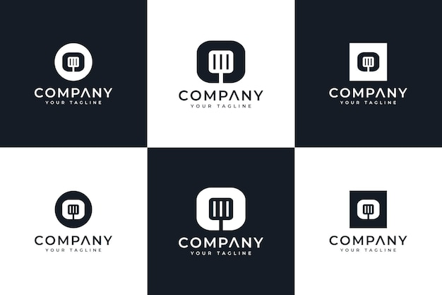 Набор буква o, креативный дизайн логотипа шпателя для всех целей