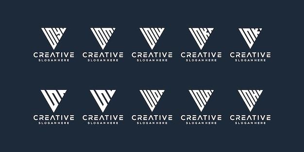 文字のロゴデザインのセット