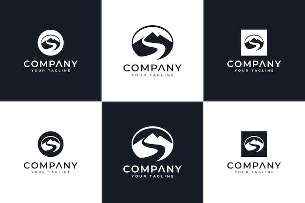 모든 용도로 사용할 수 있는 편지 s 산 로고 창의적인 디자인 세트