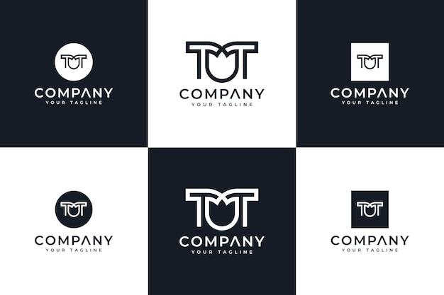 Набор букв tt цветочный логотип креативный дизайн для всех целей