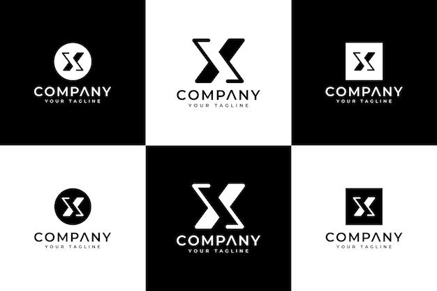 すべての用途のための文字xロゴの創造的なデザインのセット