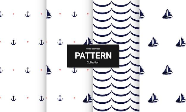 밝은 색상 완벽 한 패턴 일러스트 레이 션의 설정