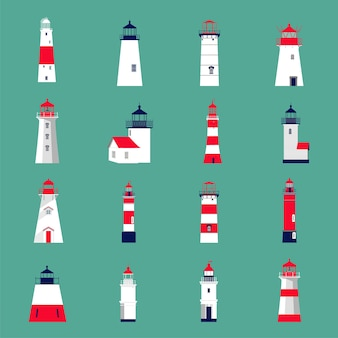 Set of lighthouses.
