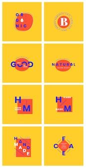 Set of logo badge design vectors