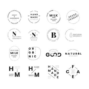 로고 배지 디자인 벡터의 집합