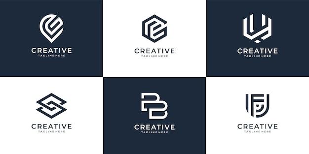 ロゴデザインコレクションテンプレートのセット
