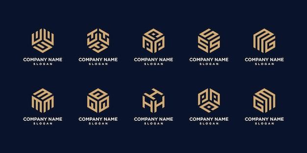 Набор геометрических логотипов
