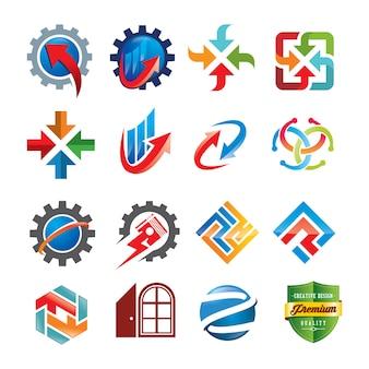 ロゴデザインテンプレートのセット