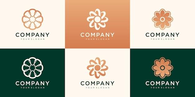 Набор логотипов для вашего бизнеса. объединение, роскошь, простота, работа в команде