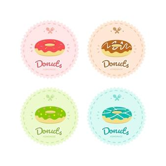 Набор логотипов пекарни, кондитерских, кондитерских, дизайн шаблона