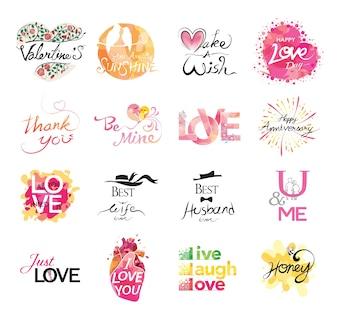 Set of love icon