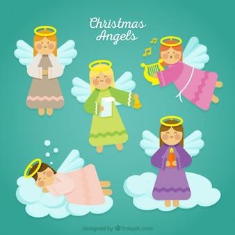 素敵なクリスマスの天使のセット