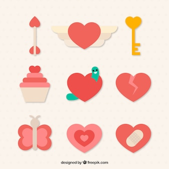 愛情のある要素のセット