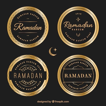 Set of luxury ramadan badges