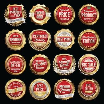 Набор значков качества роскошных продаж