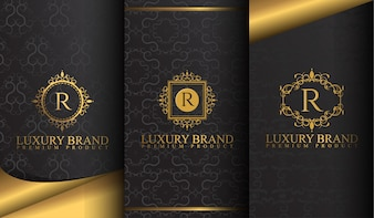 Set of luxury template