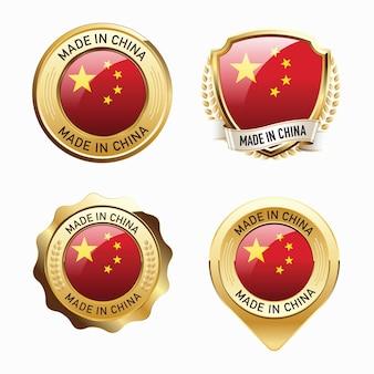 Набор значков made in china