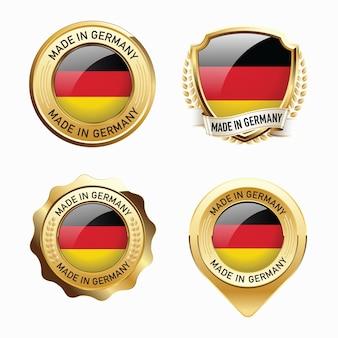 Набор значков сделано в германии