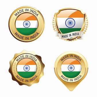 Набор значков сделано в индии