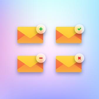 メールアイコンのセット