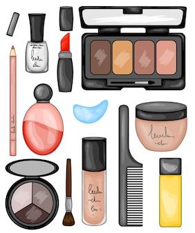 化粧品イラストのセット