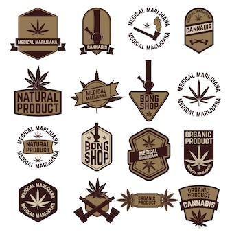 Набор этикеток марихуаны