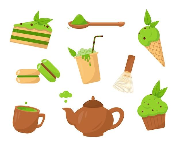 抹茶商品セット抹茶デザートアイスクリーム&ドリンク